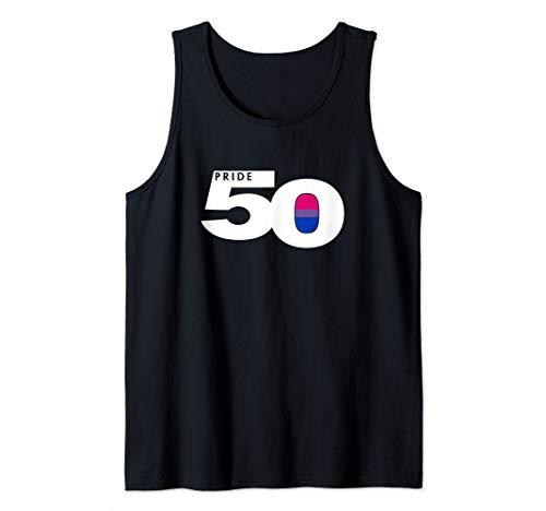 Pride 50 Bisexual Pride Flag Tank Top