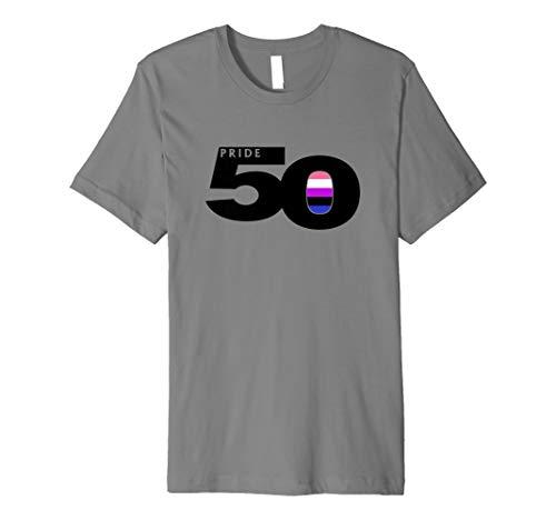 Pride 50 Genderfluid Pride Flag Premium T-Shirt