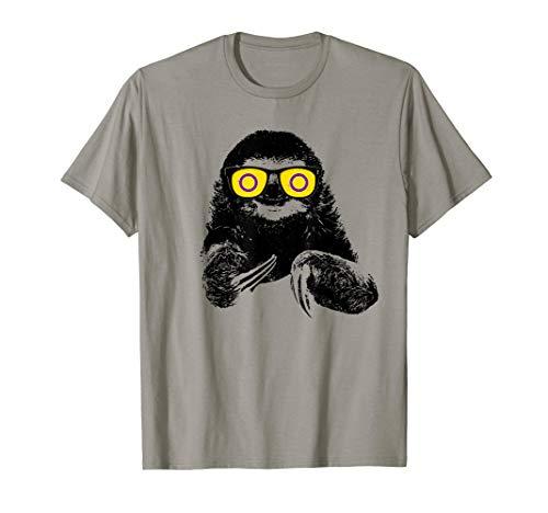 Pride Sloth Intersex Flag Sunglasses T-Shirt