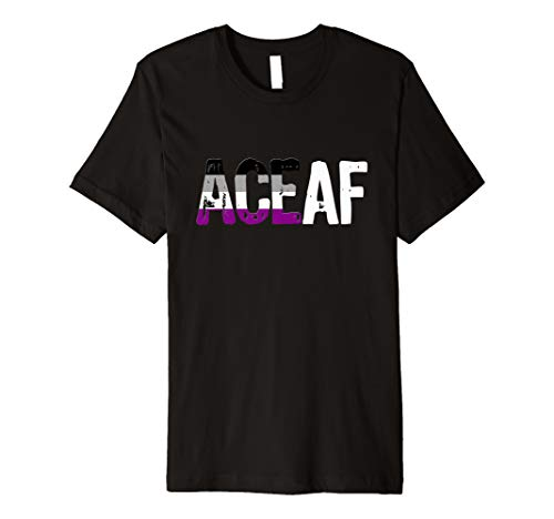 ACE AF Ace as Fuck Asexual Pride Flag Premium T-Shirt