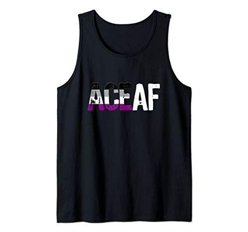 ACE AF Ace as Fuck Asexual Pride Flag Tank Top