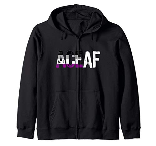 ACE AF Ace as Fuck Asexual Pride Flag Zip Hoodie