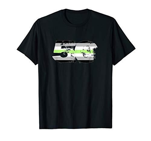 Agender Grunge 50 Pride Flag T-Shirt