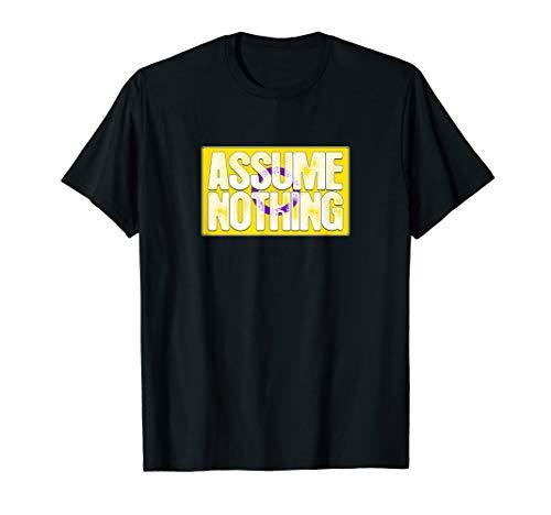 Assume Nothing Intersex Pride Flag T-Shirt