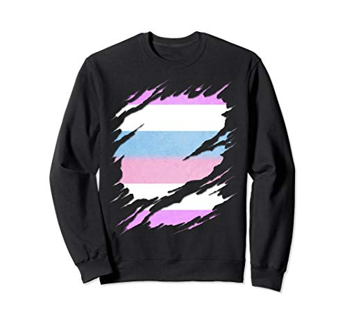 Bigender Pride Ripped Reveal Sweatshirt