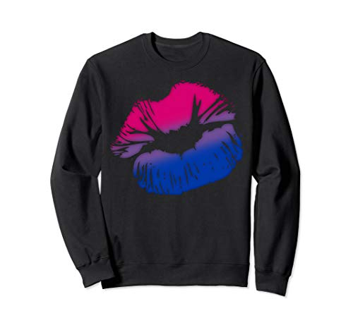 Bisexual Pride Big Kissing Lips Sweatshirt