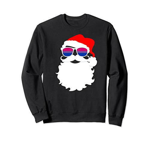 Cool Santa Claus Bisexual Pride Flag Sunglasses Sweatshirt