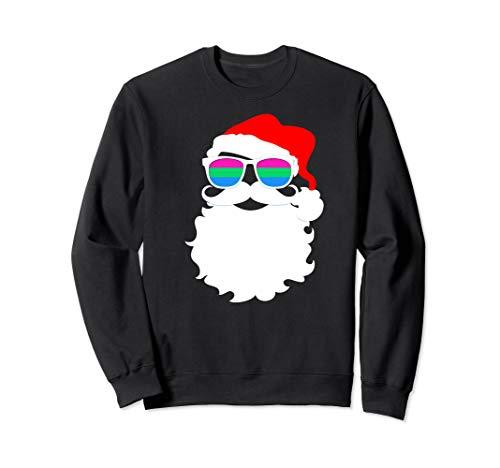 Cool Santa Claus Polysexual Pride Flag Sunglasses Sweatshirt