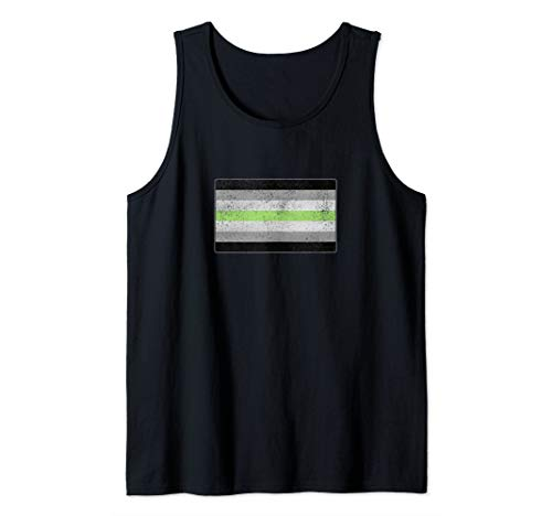 Distressed Agender Pride Flag Tank Top