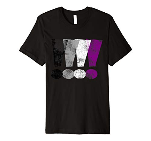 Distressed Asexual Pride Exclamation Points Premium T-Shirt