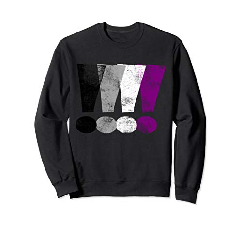 Distressed Asexual Pride Exclamation Points Sweatshirt
