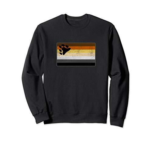 Distressed Gay Bear Pride Flag Sweatshirt