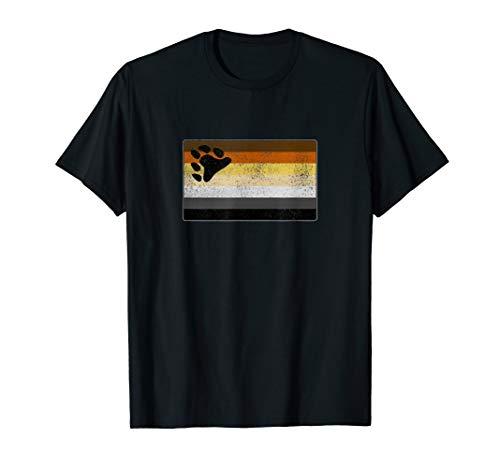 Distressed Gay Bear Pride Flag T-Shirt