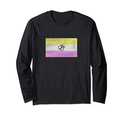Distressed Gay Twink Pride Flag Long Sleeve T-Shirt