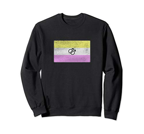 Distressed Gay Twink Pride Flag Sweatshirt