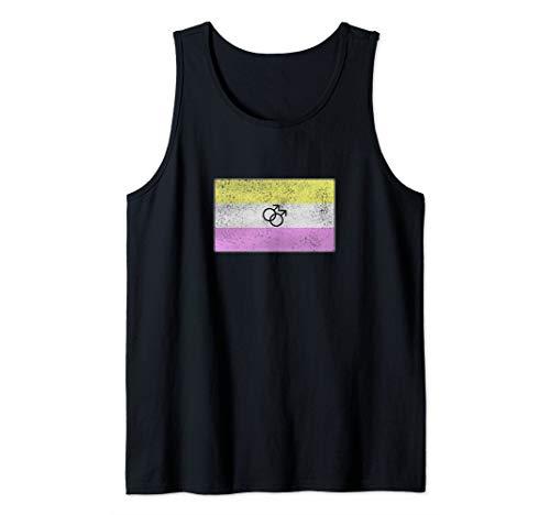 Distressed Gay Twink Pride Flag Tank Top