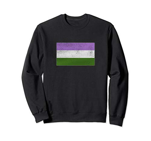 Distressed Genderqueer Pride Flag Sweatshirt