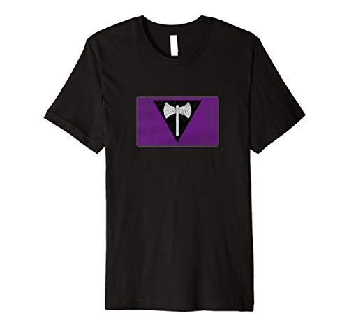 Distressed Lesbian Labrys Pride Flag Premium T-Shirt