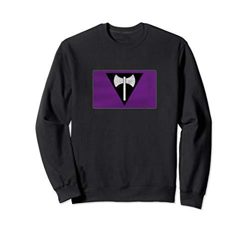 Distressed Lesbian Labrys Pride Flag Sweatshirt