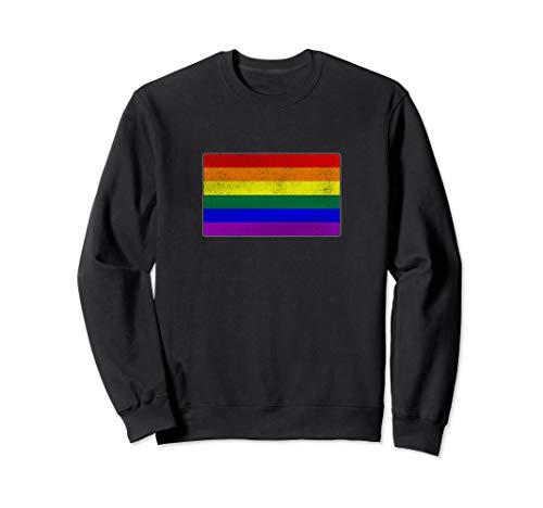 Distressed LGBTQ Gay Pride Flag Sweatshirt