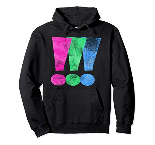 Distressed Polysexual Pride Exclamation Point Pullover Hoodie