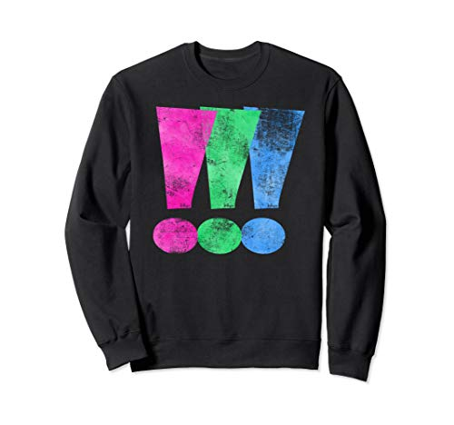 Distressed Polysexual Pride Exclamation Point Sweatshirt