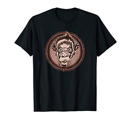 Distressed Wild Chimp Stamp T-Shirt