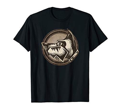 Distressed Wild Dog Stamp T-Shirt