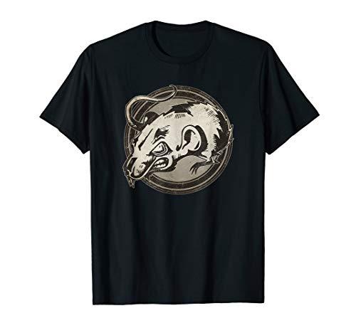 Distressed Wild Rat Stamp T-Shirt