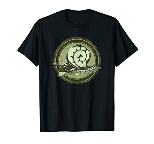 Distressed Wild Snail Stamp T-Shirt