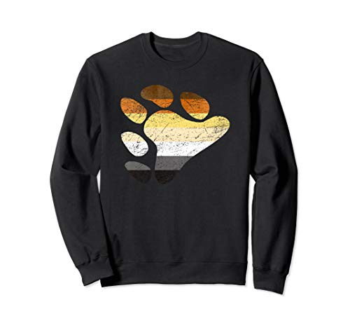 Gay Bear Pride Flag Claw Print Sweatshirt