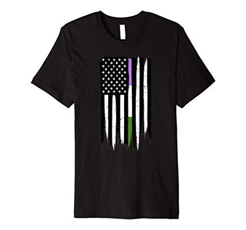 Genderqueer Pride Thin Line American Flag Premium T-Shirt