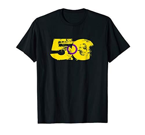Intersex Grunge 50 Pride Flag T-Shirt