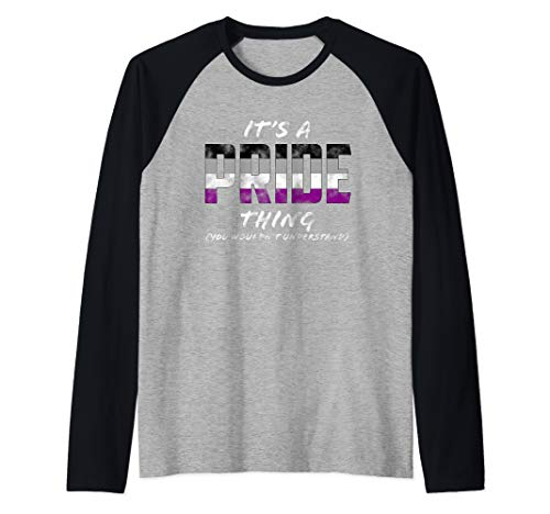 It's a Pride Thing - Asexual Pride Flag Raglan Baseball Tee