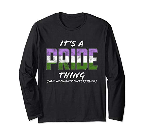 It's a Pride Thing - Genderqueer Pride Flag Long Sleeve T-Shirt