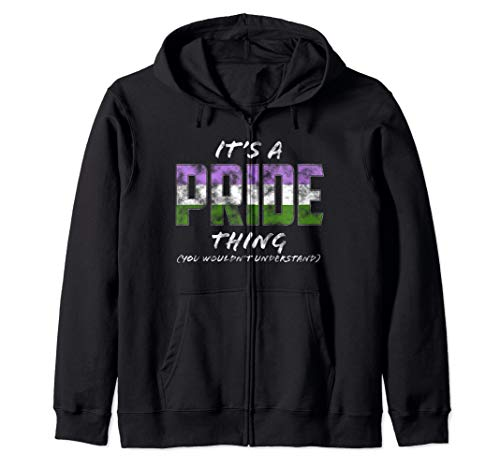 It's a Pride Thing - Genderqueer Pride Flag Zip Hoodie