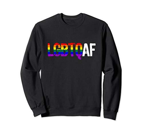 LGBTQ AF LGBTQ as Fuck Rainbow Pride Flag Sweatshirt