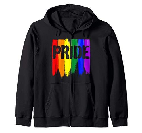 LGBTQ Pride Brush Strokes Zip Hoodie
