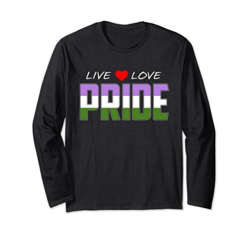 Live Love Pride - Genderqueer Pride Flag Long Sleeve T-Shirt