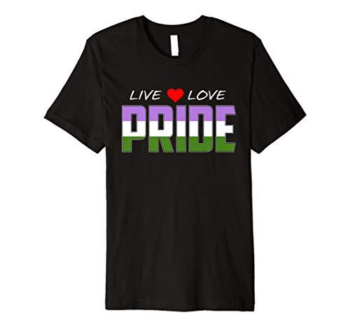 Live Love Pride - Genderqueer Pride Flag Premium T-Shirt
