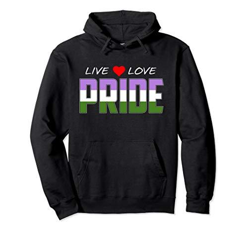 Live Love Pride - Genderqueer Pride Flag Pullover Hoodie