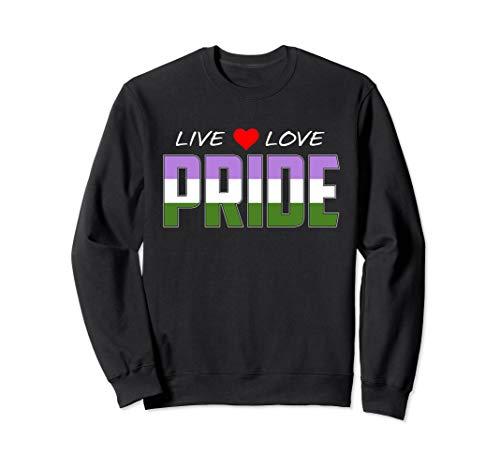 Live Love Pride - Genderqueer Pride Flag Sweatshirt