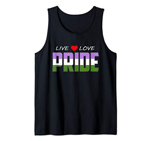 Live Love Pride - Genderqueer Pride Flag Tank Top
