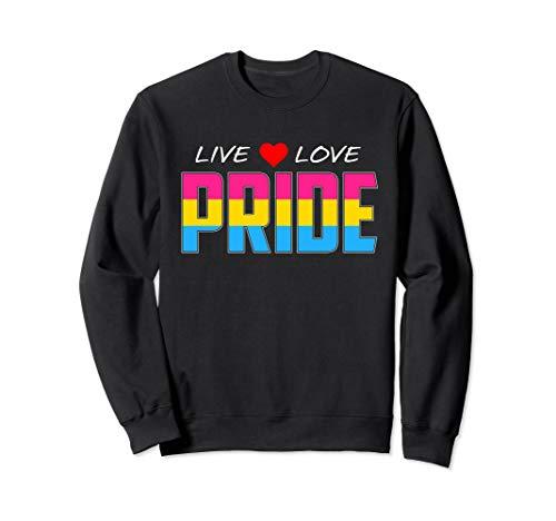 Live Love Pride - Pansexual Pride Flag Sweatshirt