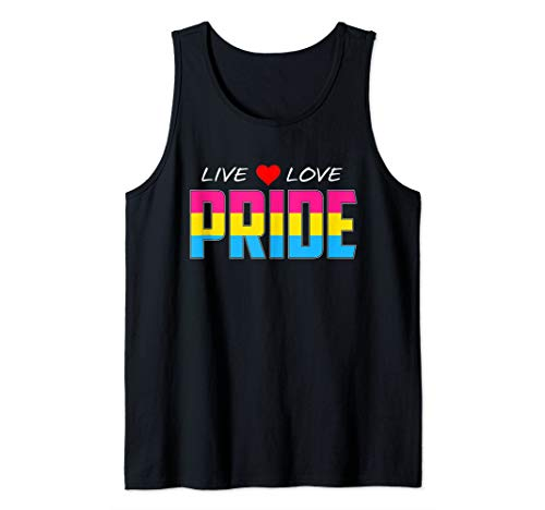 Live Love Pride - Pansexual Pride Flag Tank Top