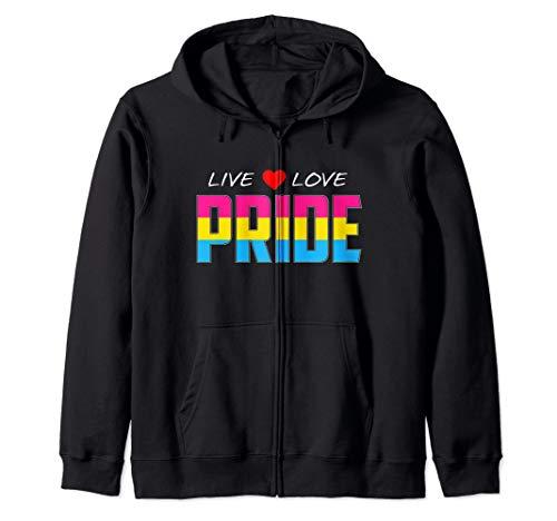 Live Love Pride - Pansexual Pride Flag Zip Hoodie