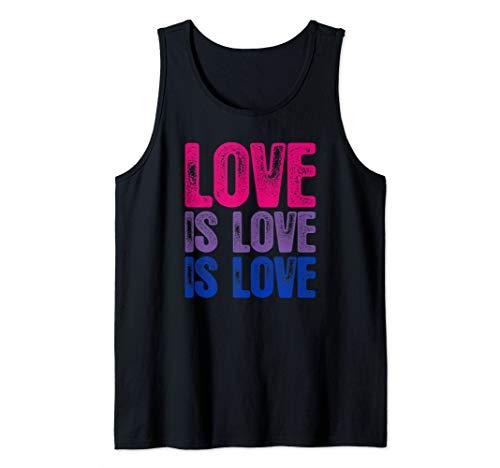 Love is Love is Love Bisexual Pride Tank Top