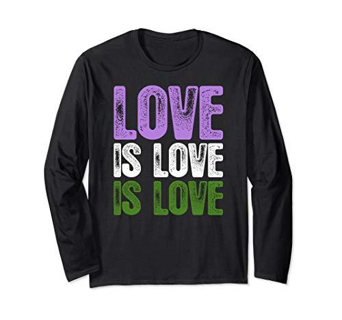 Love is Love is Love Genderqueer Pride Long Sleeve T-Shirt