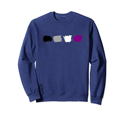 Minimal Asexual Pride Flag Stroke  Sweatshirt