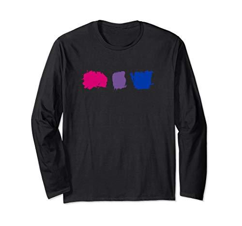 Minimal Bisexual Pride Flag Stroke Long Sleeve T-Shirt